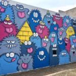 カカアコにあるカラフルモンスターが人気のウォールアート